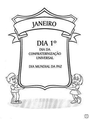 Cantinho Pedagógico: Dia da Confraternização Universal