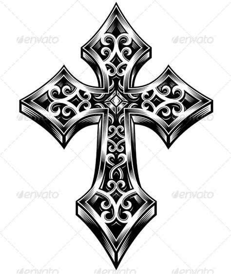 ornate cross tattoo ornate celtic cross vector symmetrical