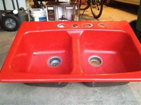 red kitchen sink kohler cast iron kitchen sink red home pinterest