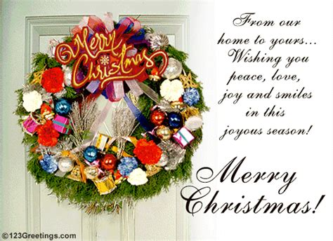 christmas wreath  english ecards greeting cards