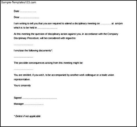 disciplinary memo template - Teacheng.us