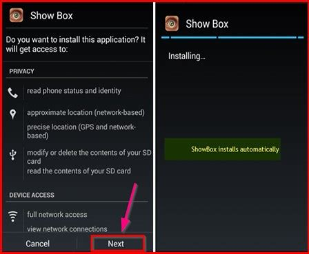 showbox android install showbox apk for android