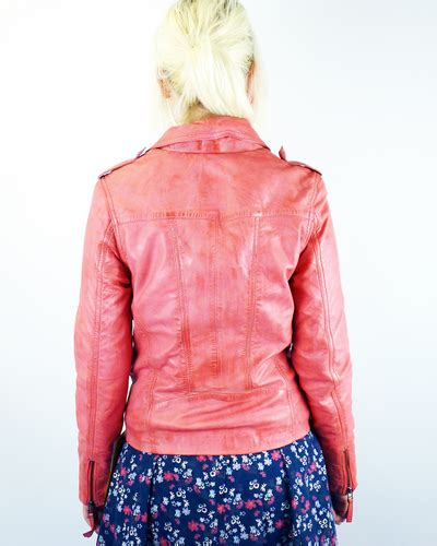 Wst 6761 Print Jacket Pink Sml Sale Madcap Solana Retro 70s Style S Leather