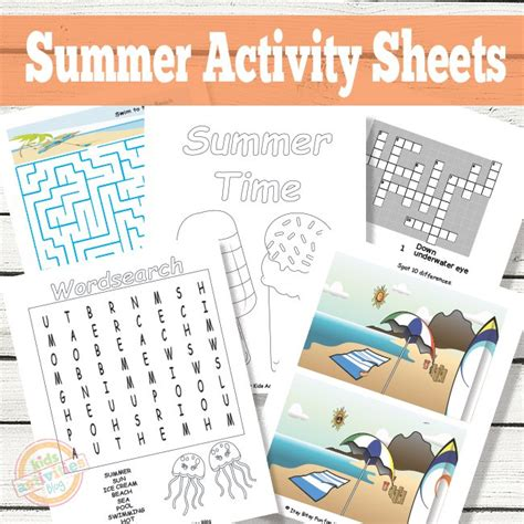 Summer Activity Sheets Printable summer activity sheets printables for the