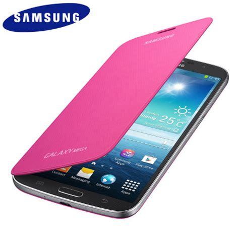 Flip Cover Samsung Mega 6 3 Inch genuine samsung galaxy mega 6 3 flip cover pink