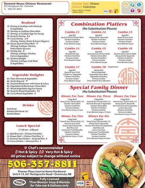 asian house menu diamond house chinese restaurant oromocto nb 261 restigouche rd canpages