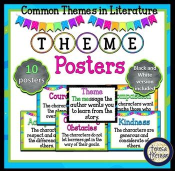 different themes of literature common themes in literature posters by teresa tretbar tpt