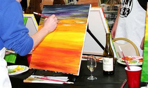 groupon paint nite kansas city canvas painting class paint craze groupon