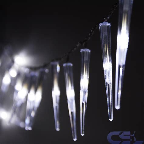 Fensterdeko Weihnachten Lichterkette by 60 Led Lichterkette Eiszapfen Girlande Weihnachtsdeko