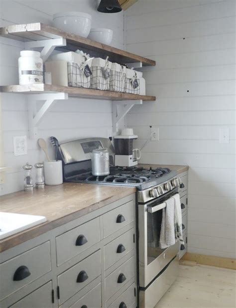 diy open shelving kitchen 17 best ideas about cabin kitchens on pinterest log