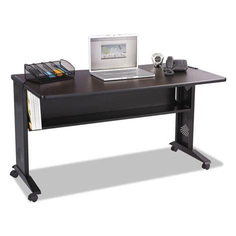 safco computer desk safco saf1933 mobile computer desk w reversible top 53 5