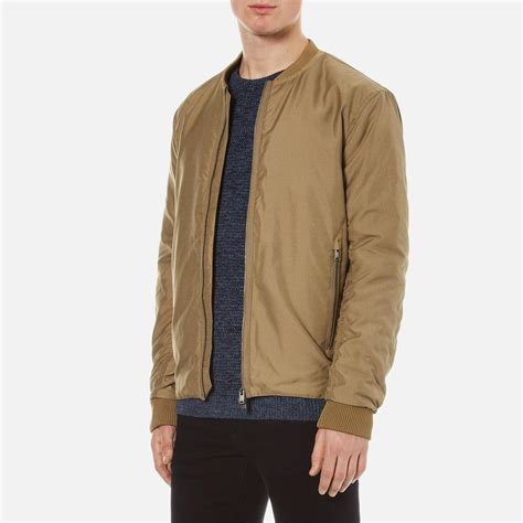 light bomber jacket mens lyst selected light bomber jacket in for