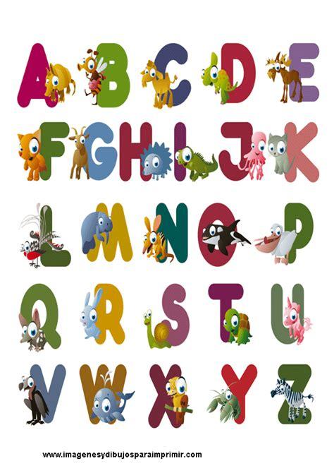 dibujos infantiles ingles abecedarios para imprimir