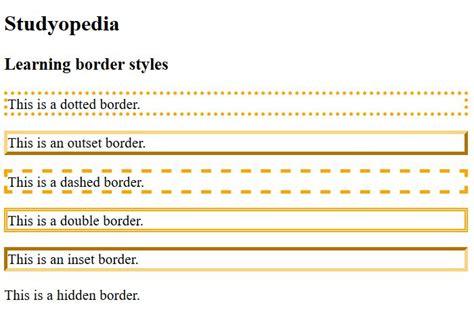 border color css css borders studyopedia