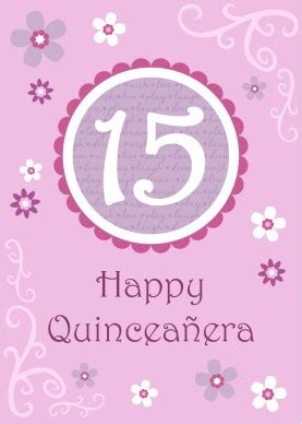 printable floral quinceanera card template