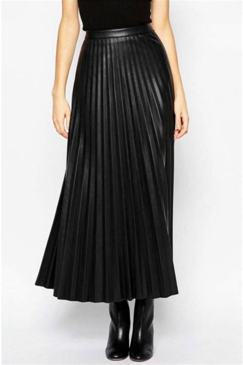 cemi ceri faux leather maxi skirt from seattle by miss