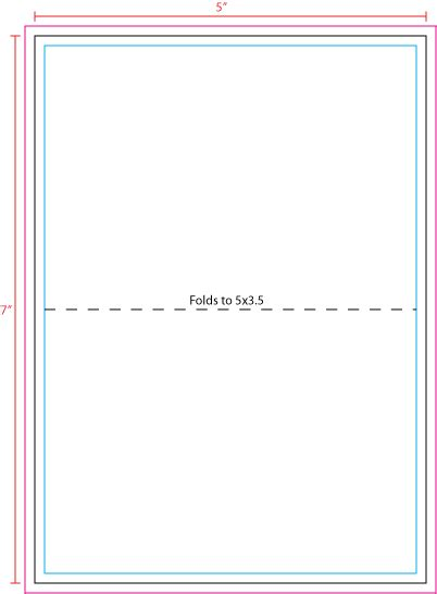 Us Press Templates 5 X 7 Note Cards 5 X 7 Folded Card Template