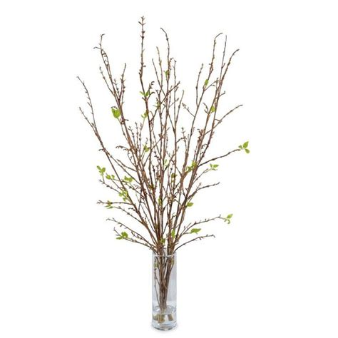 Artificial Cherry Fruit Plant With Glass Vase 1 prettynatural branch faux arrangement free shipping flowers glass vase