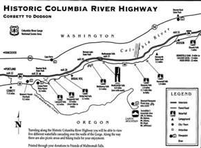 columbia river oregon map columbia river waterfalls near portland