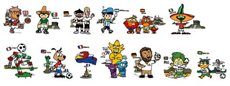 World Cup Mascots (Beta Test) by DouglasArtGallery on