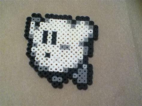 white perler black and white kirby perler bead by okami taichou on