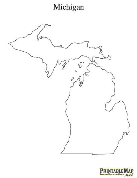 template of michigan printable state outlines paper creations pinte