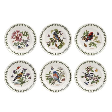 Portmerion Botanic Garden Portmeirion Botanic Garden Birds Plate 6 Inch Set Of 6 Spode Uk