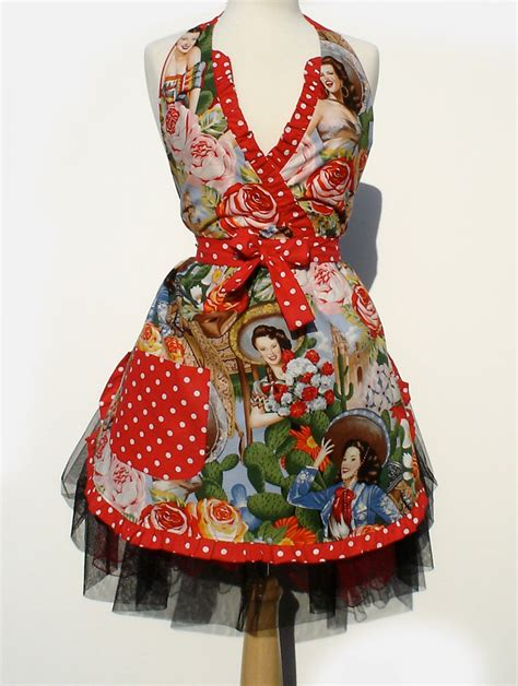 imagenes pin up vintage apron vintage inspired 1950s mexican senoritas pinup girl