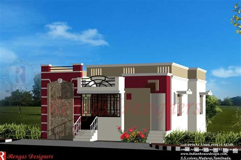 design home 880 sqft indian style small house front elevation modern house