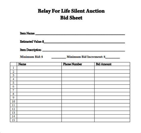 10 unique bid sheets for silent auction template write happy ending