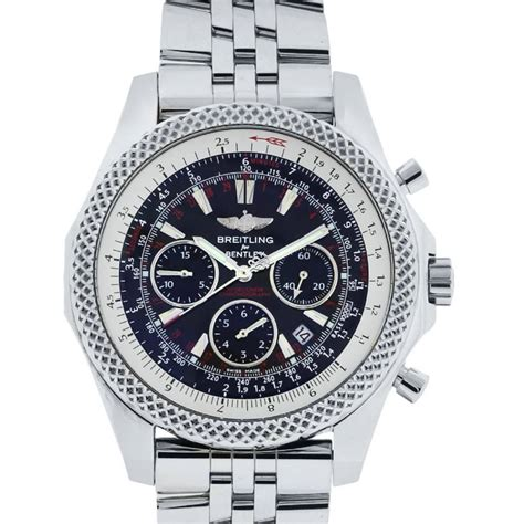 breitling bentley back breitling for bentley a25364 stainless steel black