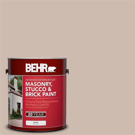 behr premium 1 gal ms 41 sandstone beige elastomeric masonry stucco and brick paint 06801