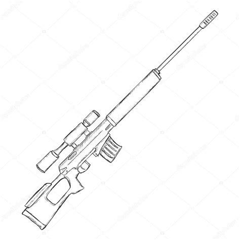 Sketches Vector by Sketch Sniper Rifle Stock Vector 169 Nikiteev 87130358