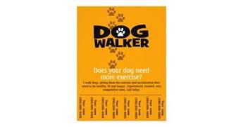 dog walking business tear sheet flyer template zazzle