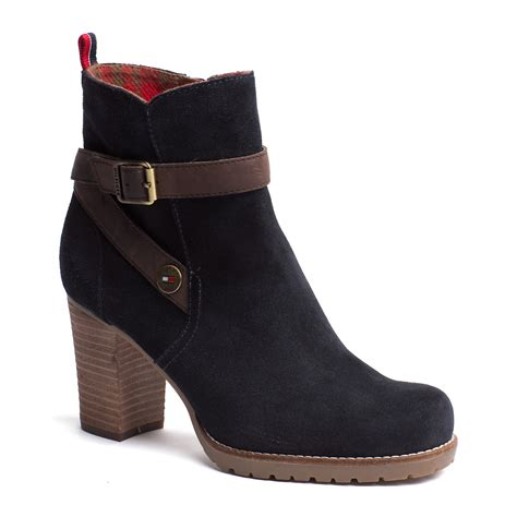 hilfiger boots hilfiger wilma ankle boots in black midnight lyst