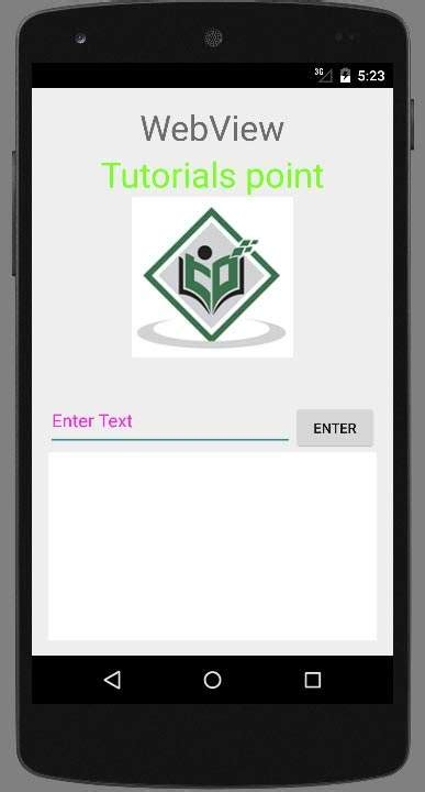 tutorialspoint notes android webview tutorial