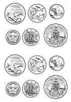 Australian Coins Outline by Templates Masters Ftfs