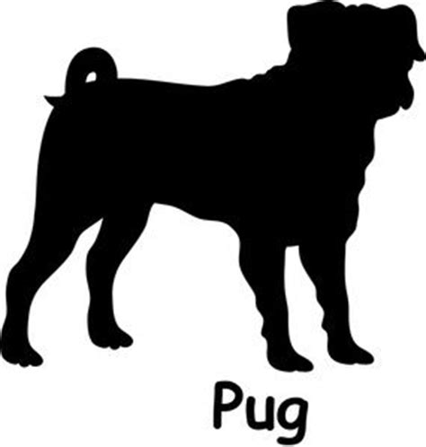 words with pug free pug clip image pug silhouette with the word quot pug quot graphics