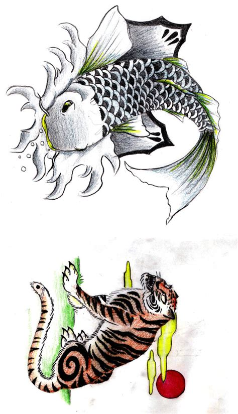 koi by mcgibs on deviantart koi and tiger by divinewindnsew on deviantart