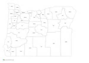 oregon county map outline state counties maps