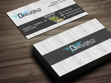 s prts business cards templates oneworld sports agency business cards typestyles net