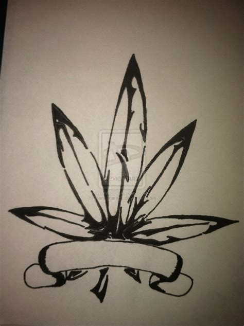 tribal weed tattoos pot plant tribal pencil and in color pot