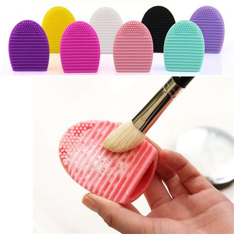 Pembersih Kuas Brus Brush Egg brush egg pembersih make up brush kuas elevenia