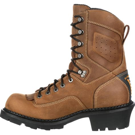 comfortable work boots georgia boot comfort logger safety toe waterproof work boot