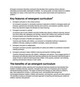 emergent curriculum planning template sle curriculum planning template 9 free documents in