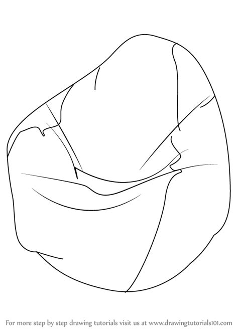 step by step how to draw a bean bag drawingtutorials101 com