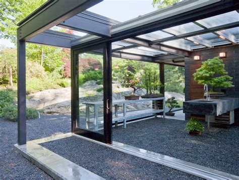 Outdoor Patio Pics Glass House In The Garden Modern Patio Boston By