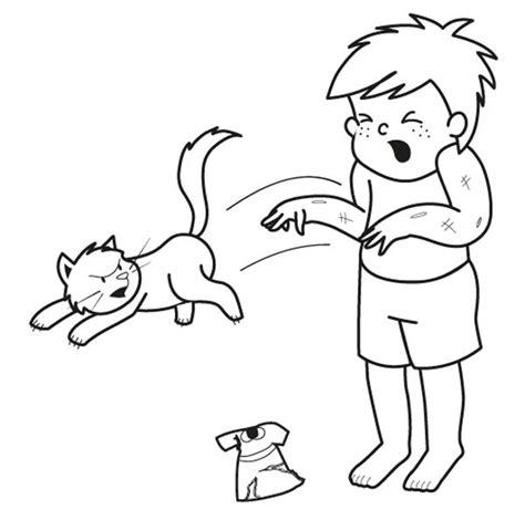imagenes niños peleando para colorear 161 gato enfadado dibujo para colorear e imprimir