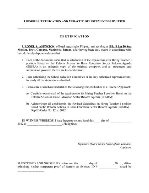 application letter for school in philippines letter of application sle application letter for deped