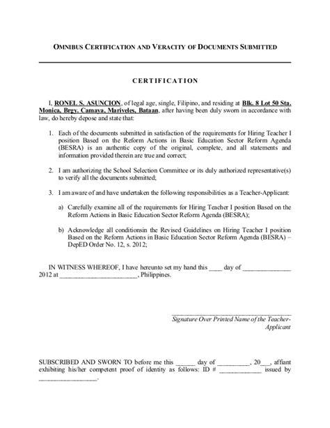 Letter Of Application: Sample Application Letter For Deped